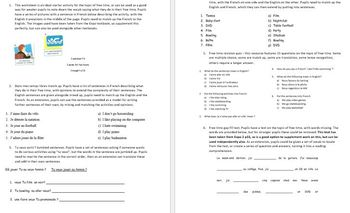 Free Time and Going Out worksheets