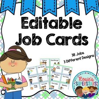 Editable Class Job Cards