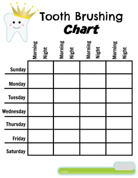 photo about Printable Tooth Brushing Charts identified as Totally free Enamel Brushing Chart via Prints4Training Instructors Pay out