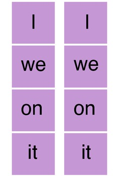 Free Top 20 Sight Words Flash Cards for Reading Activities