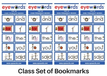 Free High Frequency Sight Words Bookmark - Eyewords