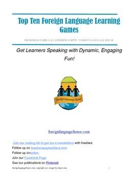 Free Top Ten Foreign Language Games & Activities