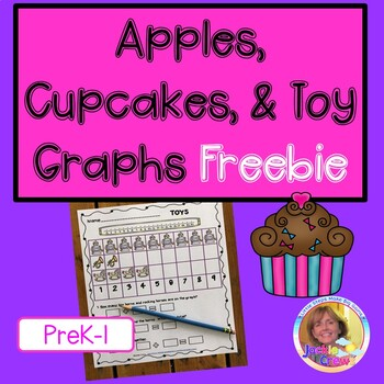 Apple, Cupcake,Toy, and School Supply Graphs
