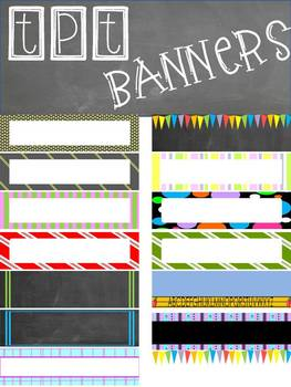 Free TpT Store Banners