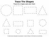 Free Tracing Shapes Worksheet
