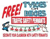 Free Traffic Safety Pennants kids cut and post in the classroom