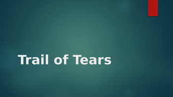 Free Trail of Tears Powerpoint