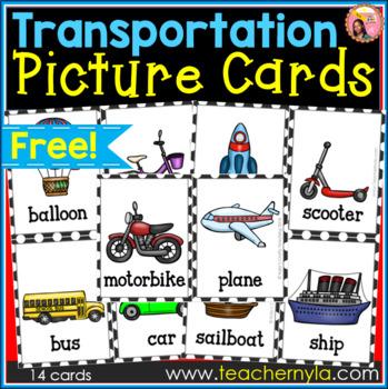 Free Transportation Flash Cards