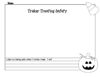Free Tricker Treating Safety Page