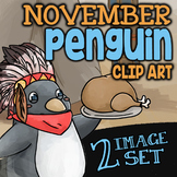 Free TURKEY SERVED BY CUTE PENGUIN Clipart ✦ Freebie is Pa