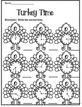 Free:  Turkey Time