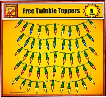 Free Twinkle Light Buntings from Charlotte's Clips