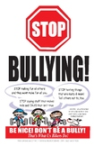 Free Two (2) Bullying Posters  for your classroom Print Si