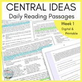 Daily Reading: Central Ideas and Inferencing Week 1