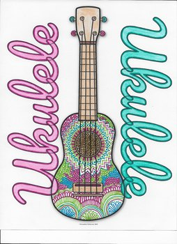 Free Ukulele Coloring Page!