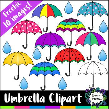Free Umbrella Clipart Mini Bundle - 10 images! For Commercial and Personal Use