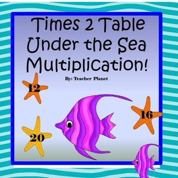 Free Multiplication Game- Times 2 Table Under the Sea Mult