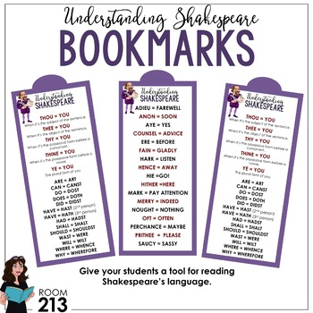 Free Understanding Shakespeare Bookmarks