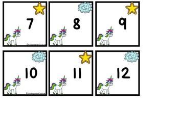 Free Unicorn Calendar Numbers