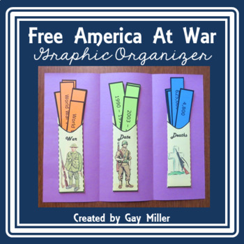 Free United States Wars Graphic Organizer