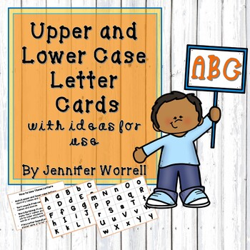 Free Upper and Lower Case Alphabet Cards with Ideas for Use