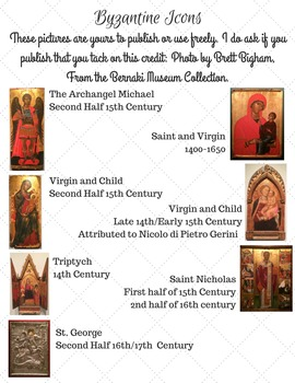 Free Use Photographs of Byzantine Icons Use/Publish/Free!
