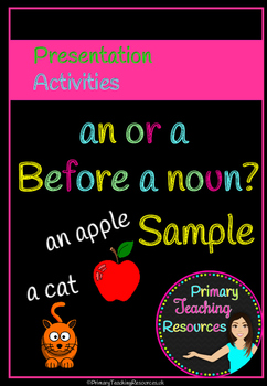 Free Using 'an' or 'a' correctly before a noun