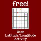 Free!  Utah Latitude/Longitude Map Activity