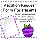 Free Vacation Request Form