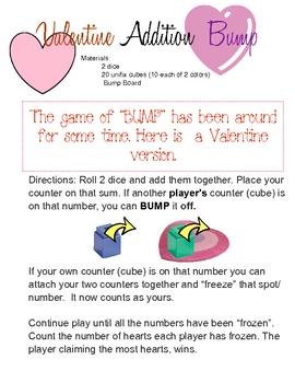 Free Valentine Addition Bump Game