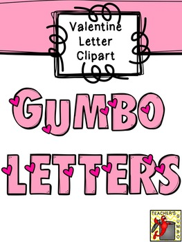 Valentine Clipart - Heart Letters