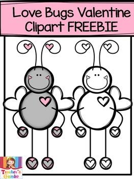 Free Valentine Clipart - Love Bugs