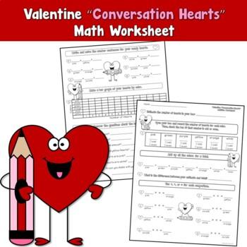 Free Valentine Conversation Hearts Worksheet