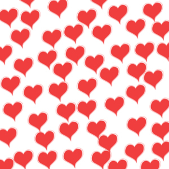 Free Valentine Digital Background Red Hearts {commercial use}