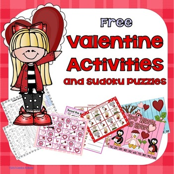 Free Valentine Graphing, Skip Counting Puzzles, and Sudoku