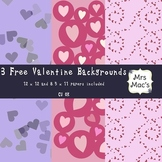 Free Valentine Heart Papers/Backgrounds