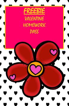 Free Valentine Homework Pass