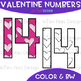 Free Valentine Numbers Clipart {0-9}