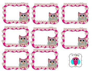 Free Valentine Owl Labels
