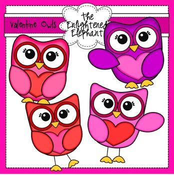 Free Valentine Owls Clip Art
