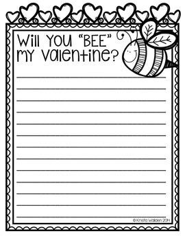 {Free} Valentine Reading Response Printables