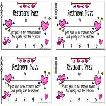 Free Valentine Restroom Passes
