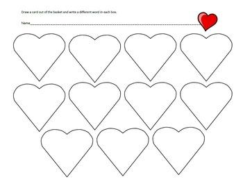 Free Valentine Sight Word Flashcards