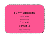Free Valentine Sight Word Flashcards