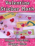 Free Valentine Sticker Math: Addition, Subtraction, Missing Addends