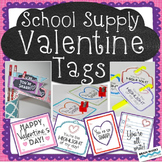 Free Valentine's Day Gift Tags for Students:  Add to schoo