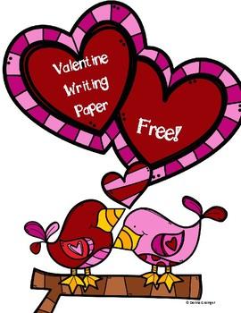 Free Valentine Writing Hearts