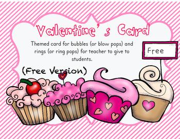 Free Valentine's Card (Teacher to Student)