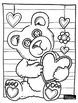 Free Valentine's Day Coloring: Teddy Bear