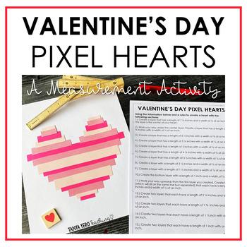 Free Valentine's Day Math Activity Measurement Freebie Grades 3-5